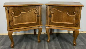 Amazing Pair French  Bedside Tables Cupboards Cabinets