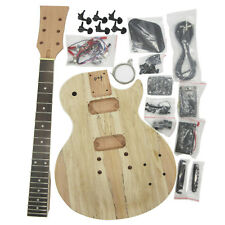 DIY Electric Guitar LP kits Mahogany Body Bolt-on Neck Rosewood FB Map Vein