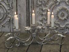 Chic Antique Kerzenständer 5 Kerzen creme weiss Shabby Landhaus Vintage NEU
