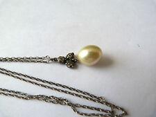 Pearl Silver Pendant/Locket Victorian Fine Jewellery