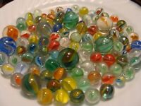 10 Vintage Classic Cats Eye Marbles Shooters Pee-wee Gift X-Mas Player Old Toys
