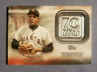 2021 Topps 70th Anniversary Commemorative Logo Patches #70lpwm Willie Mays MINT