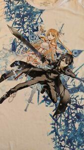 Sword Art Online anime t shirt white size Large