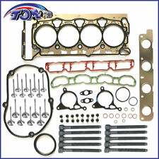 NEW CYLINDER HEAD GASKET SET W/ BOLTS INTAKE+EXHAUST VALVE FOR  Audi VW TSI 2.0T