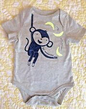 BABY GAP Cute MONKEY GO BANANAS! BOYS / GIRLS 3-6 MONTHS ONE PIECE BODYSUIT New