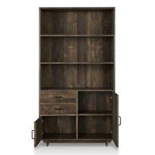 NEW - Furniture of America Berto Farmhouse 3 shelf wood reclaimed oak bookcase