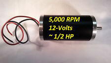 12-VDC 5000-RPM Permanent-Magnet Servo Electrical-Motor 8mm Keyed Project 1/2-HP