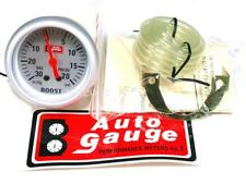 "NEW 2.5"" AUTOGAUGE BOOST METER  FACE COLOR SILVER"