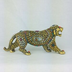 NEW Collectable Brass Tiger Figurine Door Stopper Paper Weight Book End GIFT