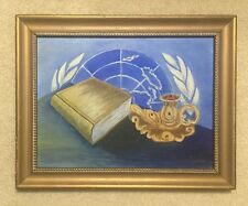 Vintage United Nations The Red Candle Paintings by E White Oct-1950 16X13