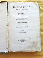 GIULIO FERRARIO: Il costume antico e moderno (vol.II  AFRICA) Firenze 1823