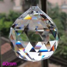 40mm Clear Crystal Lighting Ball Prisms Hanging Pendant Wedding Curtain Decor
