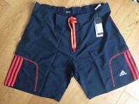 Adidas Mens Response Shorts Baggy Navy & Orange Reflective W50347 UK S L XL (D)