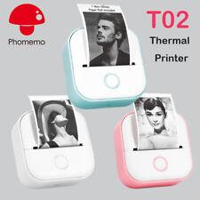Phomemo Mini Pocket Thermal Printer Wireless Bluetooth Phone T02 Printer
