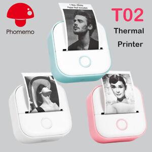 Phomemo Mini Pocket Thermal Printer Wireless Bluetooth Photo T02 or Label Paper