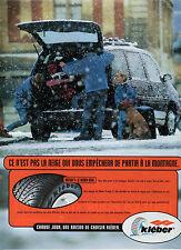 Publicité Advertising 1997  Pneu KLEBER  KRISALP 3 : le kleber neige