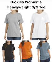 DICKIES Women's Short Sleeve Heavyweight T-Shirt FS450 NWT