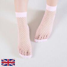 Women's Fishnet Socks High Quality Elastic Pink Polyester - UK Free P&P