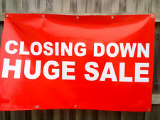 Closing Down Huge Sale Choice Option PVC Vinyl Banner Flag 1300x800mm Fast Post