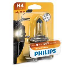 H4 Philips Vision Moto 60/55W 12V Lampadine Fari Alogeni 12342PRBW Single