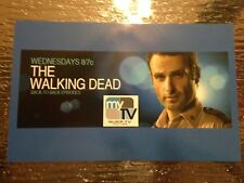 LOT OF 3 WALKING DEAD 5 X 8 PROMO TV STATION CARD ADVERTISMENT FOX