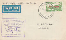 New Zealand 59 - 1932 SPECIAL FLIGHT COVER AUCKLAND to DARGAVILLE