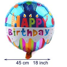 Happy birthday cake balloon with candle party decoration balon fete balloons