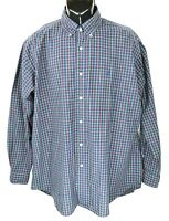 Polo Ralph Lauren Men's Size XL Blue Plaid Long Sleeve Button Down Shirt