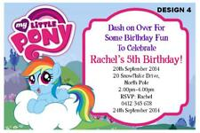 1 X My Little Pony Personalised Birthday Invitations Invites Magnets