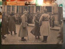 cpa photo 08 vouziers devant ecole dodeman guillaume II militaire allemand