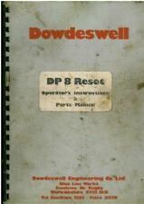 Dowdeswell dp8 Reimposta ARATRO operatori manuale con elenco delle parti