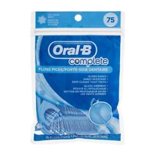 Oral-B Complete Icy Mint Flavored Floss Picks (75 Picks)