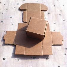 10x Mini Kraft Paper Box 40mm*40mm*25mm Gift Boxes for Black Friday Earring Ring