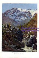 Hochgebirge Chile XL Kunstdruck 1924 von Kurt Schiering * Markranstädt Berge +