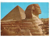 Giza: The Great Sphinx and Keops Pyramid Egypt Rare Picture Postcard