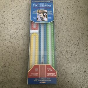 PROVO CRAFT Knifty Knitter Long Loom Boards Set of 4 Loom Boards & Pick