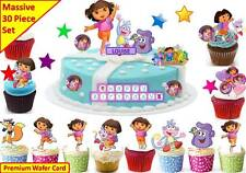 DORA THE EXPLORER Cup Cake Scene Topper Wafer Edible PERSONALISE STAND UP CUSTOM