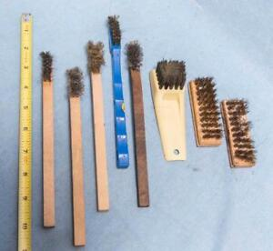 Lot of 8 Parts Cleaning Wire Brushes dq