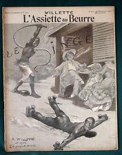 "L'Assiette au Beurre #90 ""The Ape"" 1902 French Adolphe Willette Satire Art"