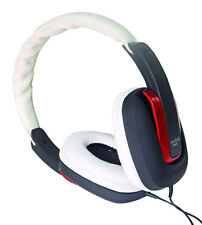 Sound Lab Stylish Comfortable Stereo Hi-Fi Headphones in Black, Red & White