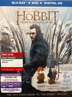 Hobbit Battle of Five Armies Blu-Ray DVD + Bain Bard LEGO Minifigures Exclusive