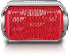 NEW Philips SHOQBOX Mini Waterproof Bluetooth Speaker RED BT2200R/27 wireless