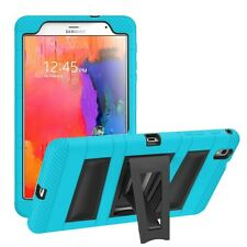 Beyond Cell Hybrid Case TABLET For Samsung Galaxy Tab Pro 8.4 T320 Blue Teal