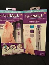 AS SEEN ON TV-Naked NAILS-Electronic Manicure Tool: By Finishing Touch - JG 4783
