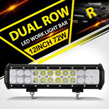 "New 12""INCH 72W CRE LED WORK LIGHT BAR COMBO SPOT FLOOD OFFROAD PK 4""7""9""14""16"""