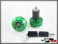 Strada 7 Racing CNC Green Handle Bar Ends Yamaha R6S USA CANADA EUROPE VERSION