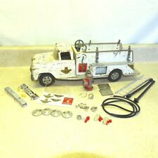 Vintage Tonka White Suburban Fire Pumper Truck, Restoration Kit Included, Parts