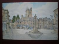 POSTCARD GLOUCESTERSHIRE STOW ON THE WOLD - THE SQUARE W/COLOUR