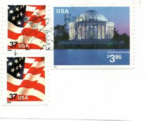 2002 Jefferson Memorial $3.85 US Postage Stamp Cat in the Hat Postmark !