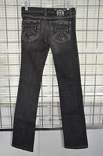 """Plastic By Gly Black Jeans Straight Pants Inseam 32"""" Size 0 On Sale df"""